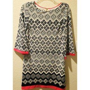 Eliza J Womens Shift Dress Geometric Print  Sz 4